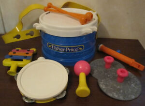 Vintage Fisher Price Marching Band Drum Set 2210