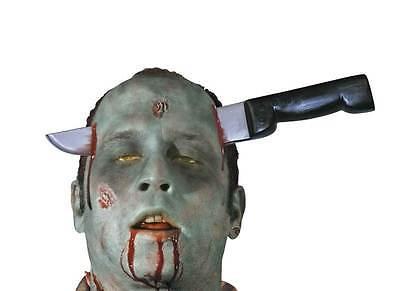 Zombie Cuchillo Thro Cabeza, Divertido Novedad Accesorio de Halloween, Disfraz