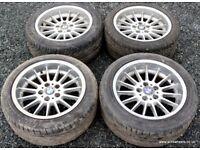 """BMW E39 5 series Style 32 17"""" Alloy Wheels & tyres 540i 535i 530i 530d 528i E34 E32 E28 E36 E46"""