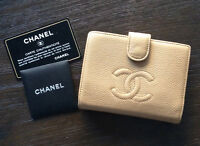 Authentic Chanel Caviar Leather Wallet