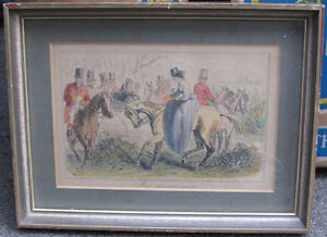 6 Framed Vintage Hunting themed Pictures London Ontario image 1