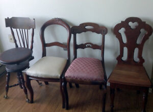 Chairs of the Vintage and Antique Era