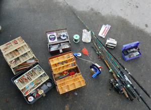 Lot of Sports fishing gear