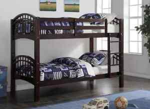 ★LORD SELKIRK FURNITURE★SHANGHAI BUNK BED FRAME-ESPRESSO $289.*★
