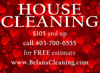 HOUSE CLEANING SERVICES IN CALGARY EMAIL TEXT CALL 4037006555