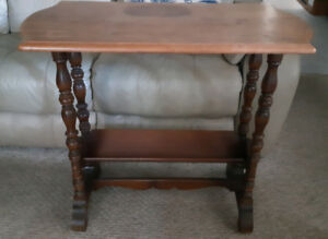 Antique table with book shelf   reduced $60
