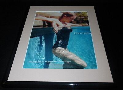 Kleine Ewer (Anna Ewers Swimsuit 2016 Calvin Klein Framed 11x14 ORIGINAL Advertisement )