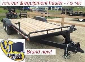 Brand new! 7x18 car & equipment hauler - 7K, 10K, 14K