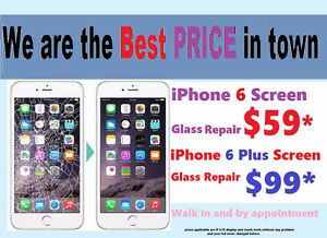 iPhone 5 5s 6 6S Plus Screen Glass Repair cheapest in town