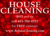 CALGARY HOUSE CLEANING - CALL TEXT EMAIL NOW 403-700-6555