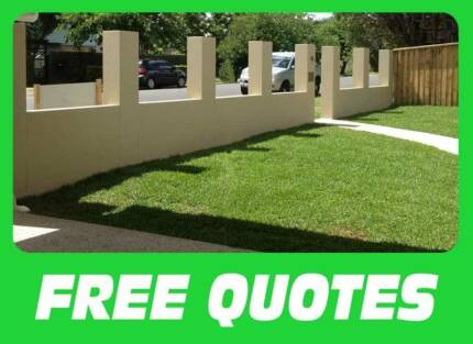 Front block fences and retaining walls