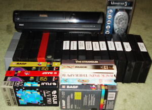 VHS Tape Player /Recorder with 28 Tapes RCA
