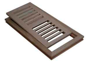 Flush Mount Wood Floor Air Vent Registers, Grill, Unfinished.