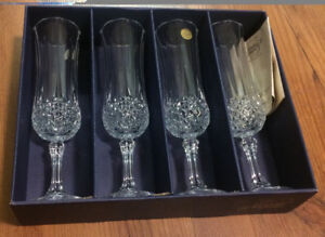 French made Longchamp Crystal glass STILL IN THE BOX UNUSED