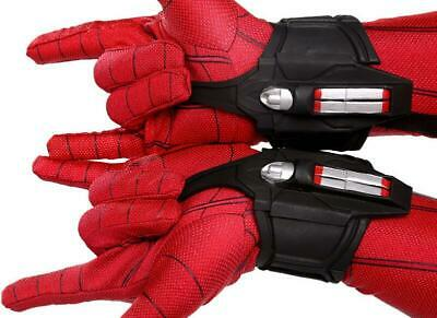 US! 1 Pair Iron Spider-Man Homecoming Web Shooter Halloween Cosplay Props Decor