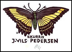 Ott Herbert X2 Exlibris 1979 Butterfly Schmetterling Papillon Motyl s943 - Dabrowa, Polska - Ott Herbert X2 Exlibris 1979 Butterfly Schmetterling Papillon Motyl s943 - Dabrowa, Polska
