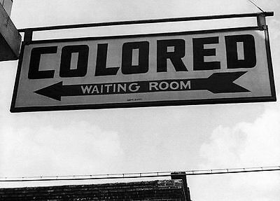 1943 Colored Only Segregation PHOTO Black Civil Rights Bus Station Georgia