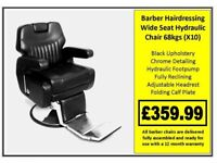 Barber Wide Seat Hydraulic Chair X10 £359.99