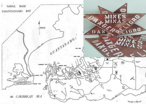 U.S. Navy Guantanamo Bay Mine Field Sign
