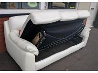 White Leather Bed Settee