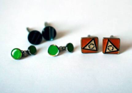 THREE SETS OF MENS CUFFLINKS. East Perth Perth City Preview