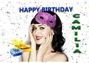Katy Perry 2 - Personalised Birthday Greeting Card | Xmas / Valentines day