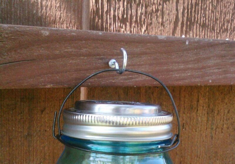 25 Black Rustic Wire hangers for Mason Jar light lids Hanger for mason jar