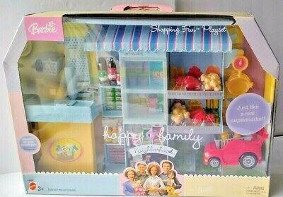 Barbie Happy Family Neighborhood Shopping Fun Grocery Store NEW Playset