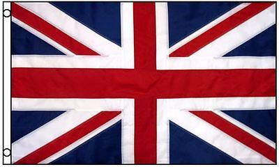 3x5 United Kingdom Flag UK Nylon Embroidered Sewn Stripes British