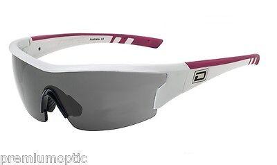 Dirty Dog Polarisiert WIX Sports Visier Sonnenbrillen Weiß - Pink/Grau 58042