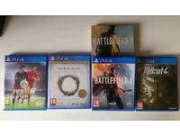 PlayStation 4 500gb with 4 games