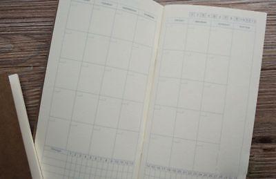 1 Monat 30-day Traveler Notebook 22x11cm Refill Kalender challange