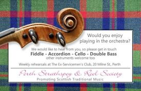 RECRUITING NOW FOR PERTH STRATHSPEY AND REEL SOCIETY