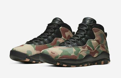 "Nike Air Jordan 10 Retro ""Camo"" Basketball Shoes Desert 310805-200 Men's NEW"