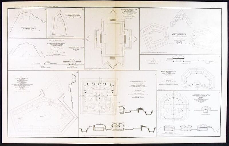 CIVIL WAR MAP-NASHVILLE; FORT MORTON, FORT SILLS TENN, CHATTANOOGA, 1891-95