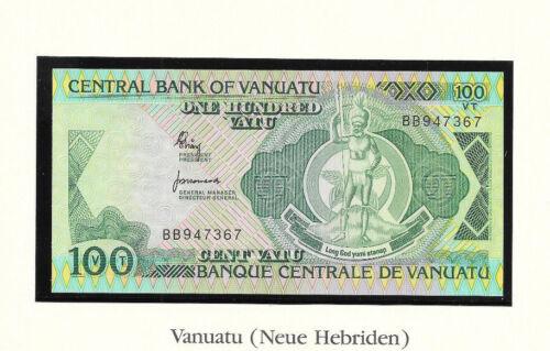 Banknotes of World Vanuatu 1982 100 Vatu UNC P-1a Prefix BB