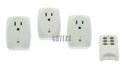 3 Pack - Wireless RF Remote Control AC Power Outlet Plug Light Socket Switch (Wireless Remote Control Outlet Switch Socket 3 Pack)