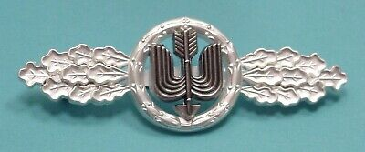 LUFTWAFFE FLYING CLASP – DAY FIGHTER – LONG RANGE -SILVER- FED. REPUBLIC PATTERN