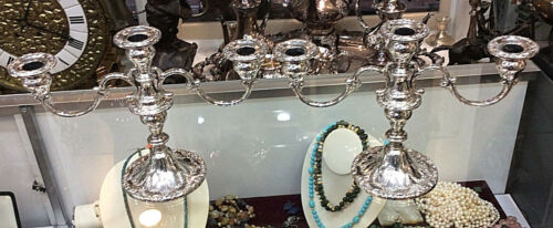 Gorham Chantilly Candelabra - 750 - Pair of 3 Light - American Sterling Silver