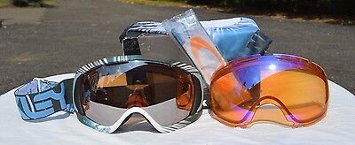 Used, 2015 NIB OAKLEY CANOPY SNOWBOARD GOGGLES $250 Factory P Black iridium/ Hi Persim for sale  Eagle Creek