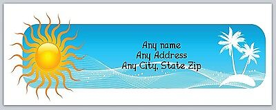 30 Personalized Return Address Labels Sun Palm Trees Buy 3 Get 1 Freec 709