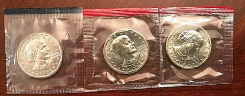 1981 P D & S  Susan B. Anthony Dollar  In Mint Cello