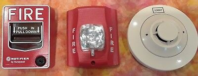 Honeywell Notifier Fire Alarm System Parts: Smoke Detector, Pull Box, Strobelite
