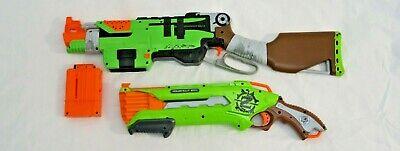 Nerf Gun Zombie Strike Slingfire Lever Action Rifle Blaster / ROUGHCUT 4X2