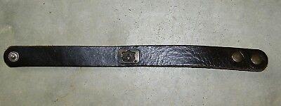 Auburn University Tigers Black Leather Bracelet Cuff Wrist NEW Size S/M Auburn Tigers Black Leather