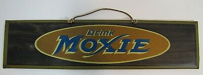 Antique Drink Moxie Sign Rare Early 1900S Tin Litho H D  Beach Coshocton Ohio