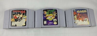 Lot Of 3 Authentic & Tested N64 Game FIGHTING FORCE 64, RAMPAGE 2, MACE DARK AGE