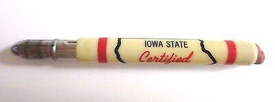Vintage Advertsing HYBRID CORN CO ELKHART, IOWA STATE CERTIFIED Bullet Pencil
