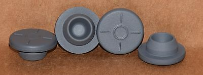 20mm Gray Butyl Serum Vial Stoppers Round Qty. 100