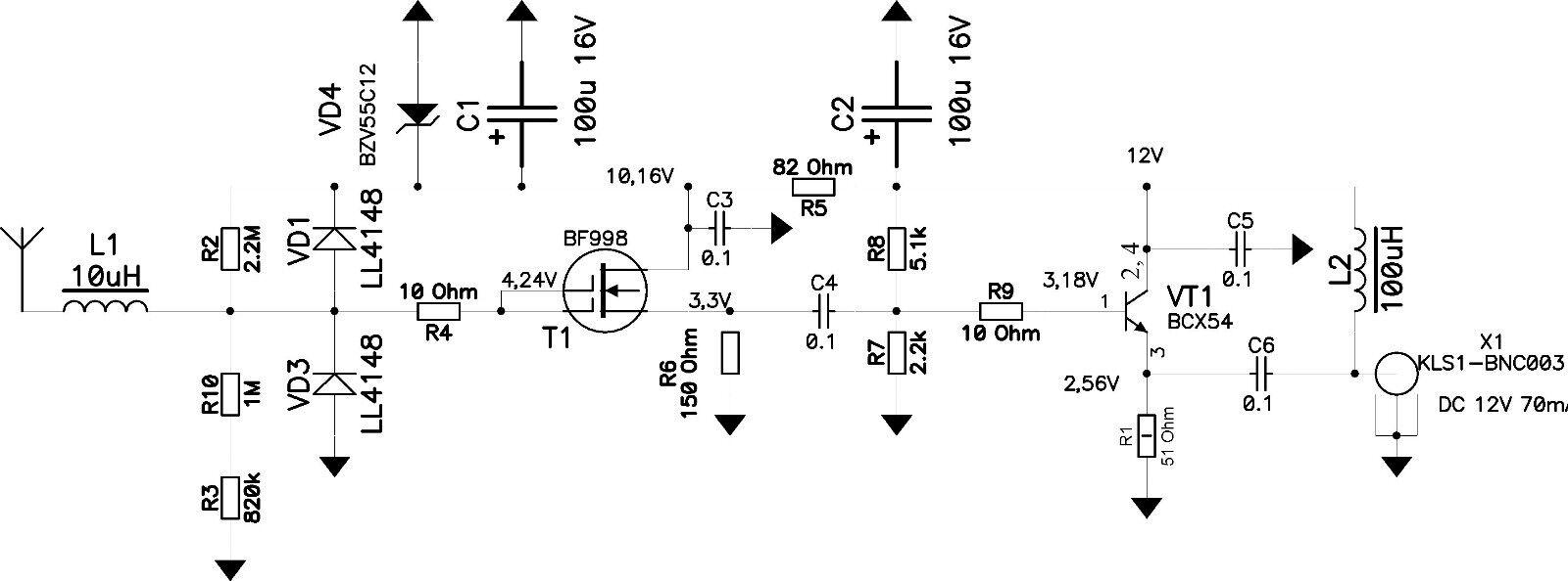 MiniWhip Active Antenna HF LF VLF mini whip shortwave sdr RX